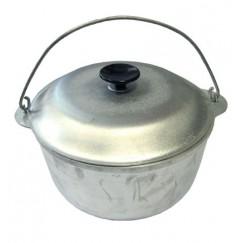 Котелок литой с крышкой алюминиевый (3, 6, 8, 10л)